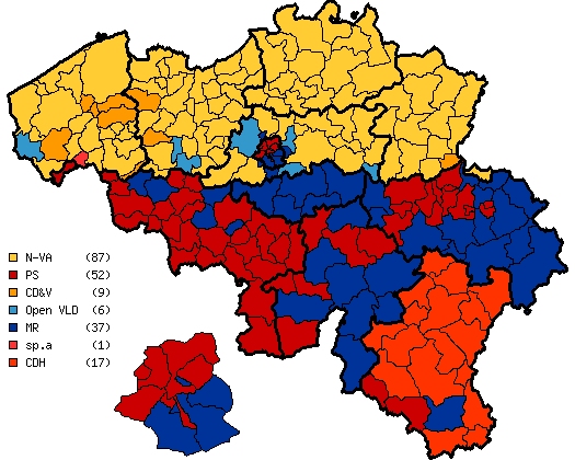 may 25 2014 chamber of representatives election map majority party by canton